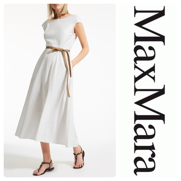 c0f03cf3442 MaxMara Dresses | New Onde Cotton Poplin Dress White Size 10 | Poshmark